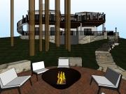 Fire pit 3d view